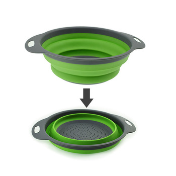 Folding Strainer Bowl Outdoor Camping Tableware 2