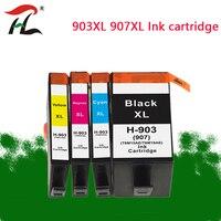 Cartucho de tinta compatível de ylc para hp 903 907 903xl 907xl hp903xl hp officejet pro 6950/6960/6961/6970/6971 impressora completa