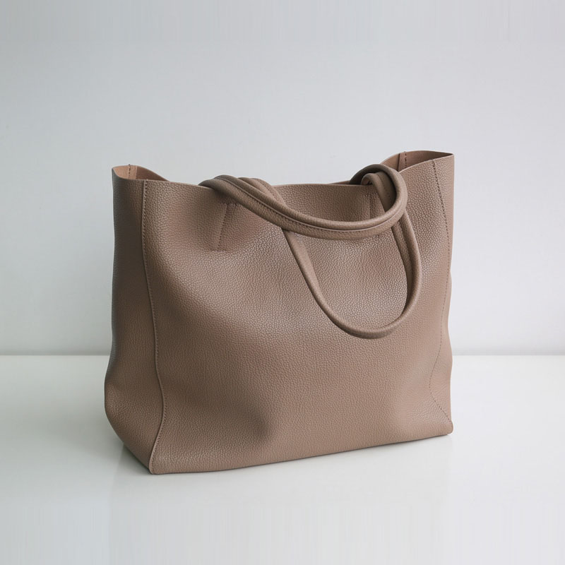 Women Tote Shopping Bag Genuine Leather High Quality Large Capacity Laptop Working Purse Shoulder Bag