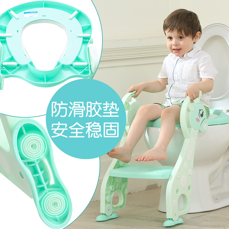 CHILDREN'S Toilet Pedestal Pan Kids Sit Toilet GIRL'S Staircase Style Infants Boy Potty Ladder Baby Washer Rack