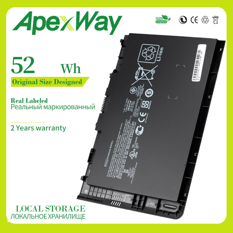 Apexway 14.8V Battery For HP EliteBook Folio 9470 9470M 9480M HSTNN-IB3Z HSTNN-DB3Z HSTNN-I10C BA06 687517-1C1 687945-001 BT04XL