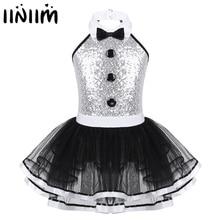 Детское платье пачка с блестками для девочек, профессиональное балетное платье, современный Lyrical танцевальный костюм, танцевальная одежда балерины для девочек