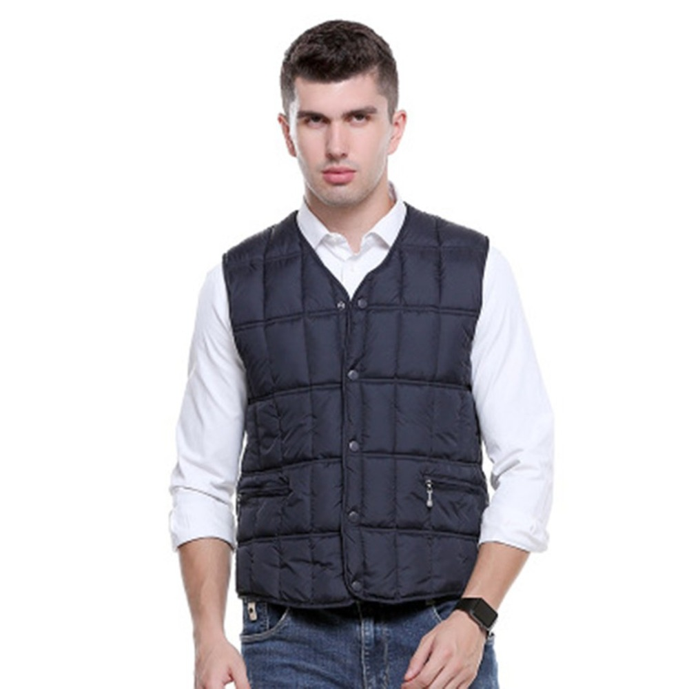 New Men's Electric Heater Heating Vest USB Security Intelligent Thermostat Electric Vest Constant Temperature Winter Warm Vest|Electric Heaters| |  - title=