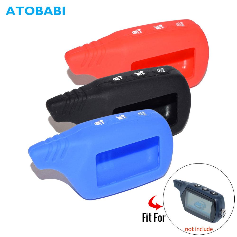 Housse de clefs en silicone pour Starline B9 V7 A61 A91 Starlionr alarme de voiture bidirectionnelle LCD télécommande Fob couverture émetteur porte-clés sac