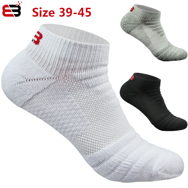 3 Pairs Men Short Socks  Gifts For Mens 100 Cotton Thick  No Show Breathable Damping Towel Bottom Sports Running Casual Sock