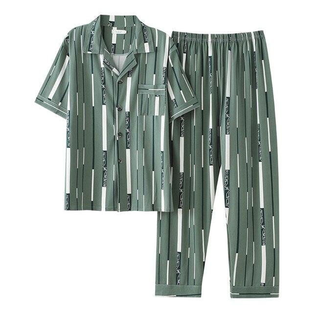 Пижама мужская с коротким рукавом 1