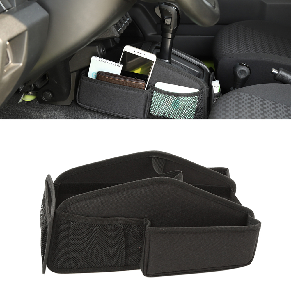 Gear Shift Storage Bag Organizer Tray For Suzuki Jimny 2019 2020 JB74 Car Interior Accessories Car Styling Black Oxford Cloth