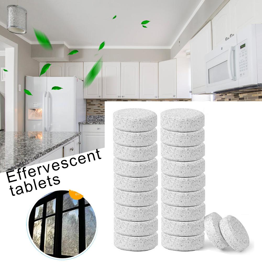 20PCS Multifunctional Effervescent Spray Concentrate Cleaner Lemon Home Toilet Cleaner Chlorine Tablets Household Cleaning Tools