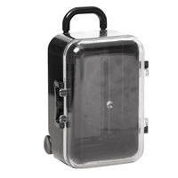 50Pcs Clear Mini Rolling Travel Suitcase Favor Box Kids Birthday Favor Boxes Party Supplies Gifts Wedding Favors
