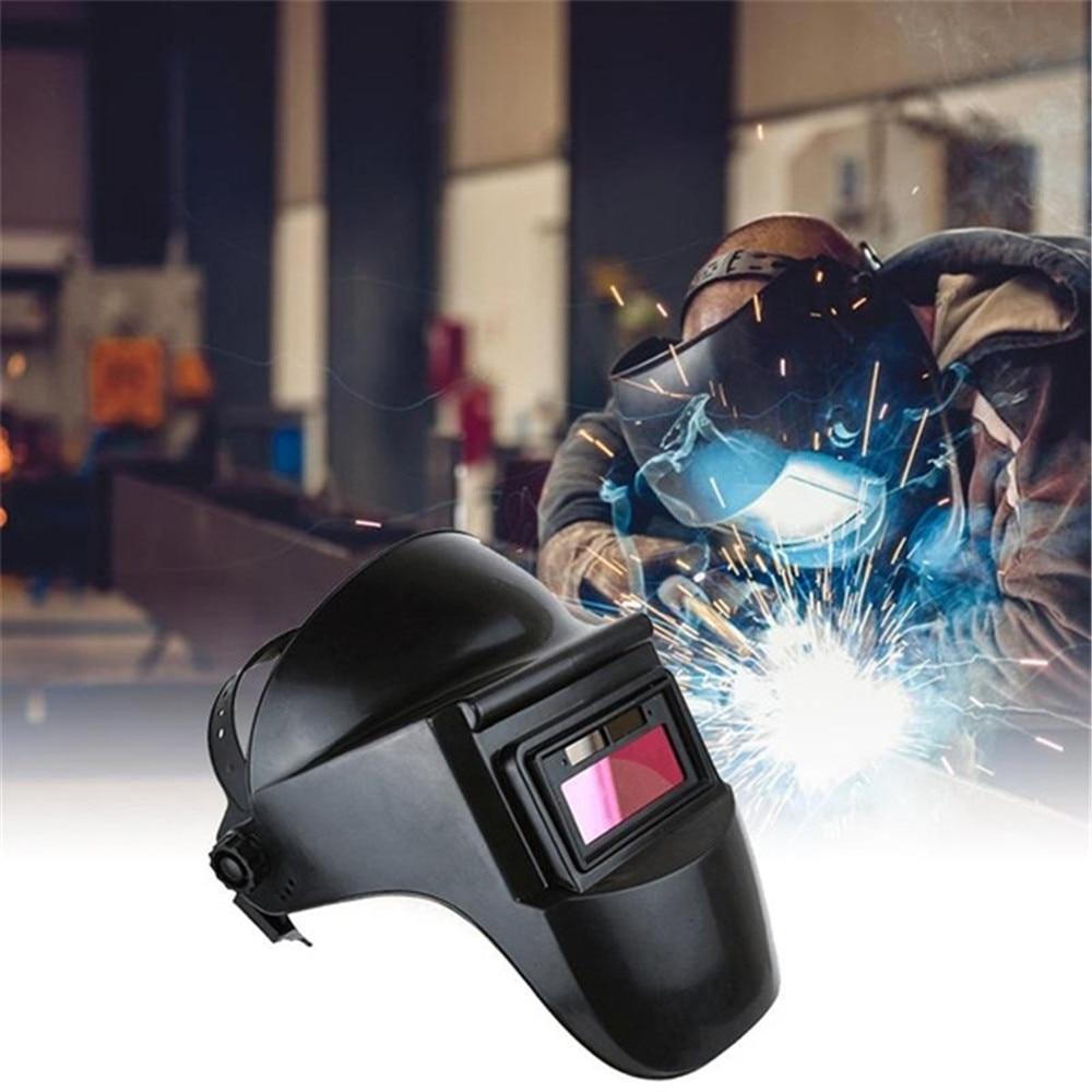 Large Screen True Color Solar Powered Auto Darkening Welding Helmet Mask Adjustable Shade Welder Cap For Welding Equipment