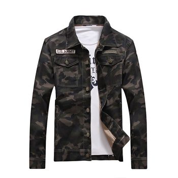 Outerwear Men's Denim Jacket Military Tactical Jackets Men Windbreaker Coat Camouflage Masculina Slim Coats Army Camo Clothing mens military army combat tactical windbreaker hiking outdoor jacket men water resistant outerwear hoodie coat hunting clothes