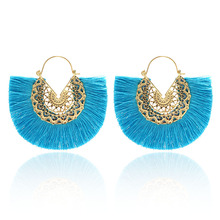 Bohemian Ladies Fashion Tassel Earrings Big Jewelry Brinncos Female 2019 New Ethnic Style Pendant