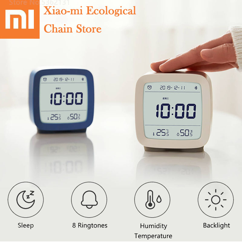 Xiaomi Cleargrass Bluetooth Alarm Clock Temperature Humidity Monitoring Night Light With Display LCD Screen Work With Mijia App image