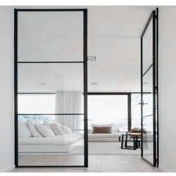 2018 Высокое качество низко-е глазированное стекло стальная железная французская Межкомнатная дверь
