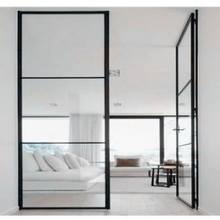 2018 High Quality Low-e Glass Glazed Steel Iron French Interior Door Custom Made For Sale