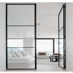 2018 High Quality Low-e Glass Glazed Steel Iron French Interior Door