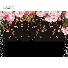 Laeacco Photo Backdrops Rose Flowers Love Heart Birthday Party Wedding Baby Portrait Banner Photography Backgrounds Photocall