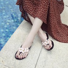 цены Solid Color Flat Heel Women Slippers Fashion Beach Flat Sandals  Ladies Shoes  Summer New Leisure Beach Flip Flops