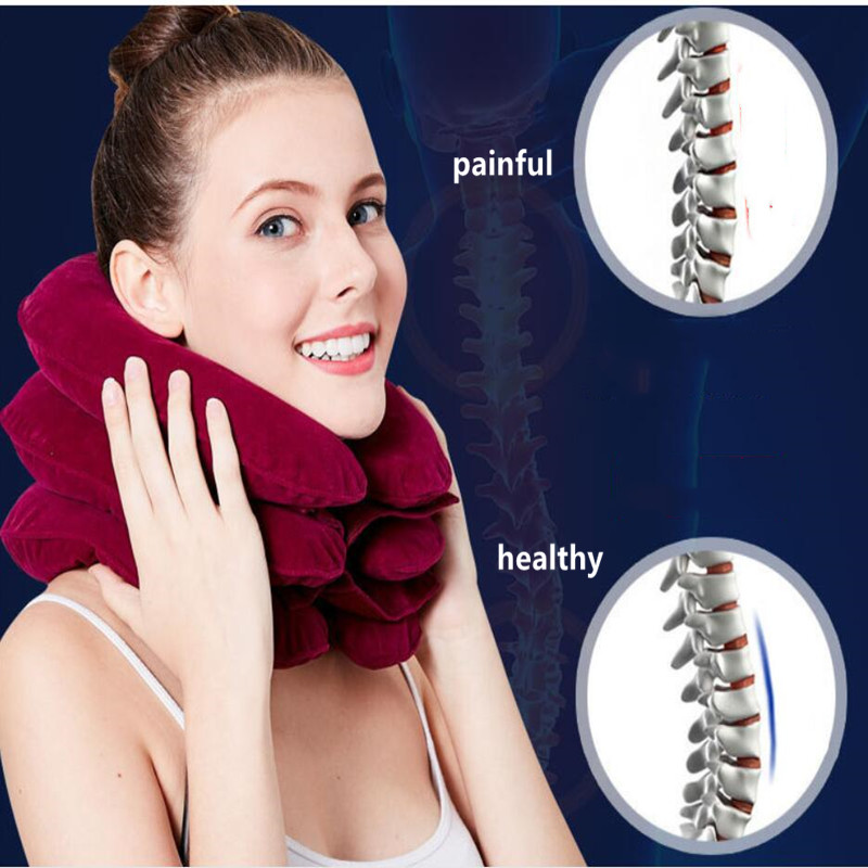Cervical Neck Traction Medical Correction Device Cervical Support Posture Corrector Neck Stretcher Relaxation Inflatable Collar(China)