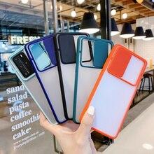 Coque de téléphone OPPO Reno 5 Pro, 5F, A94, A74, A54, Realme 8, 4G, 5G, transparente, mate, avec fenêtre coulissante et tirette