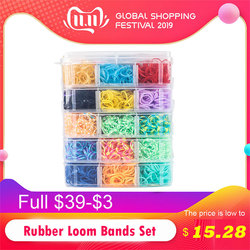 7200pc diy brinquedos de borracha tear bandas conjunto criança diy pulseira de borracha de silicone bandas elásticas arco-íris tecer tear bandas de brinquedo crianças bens