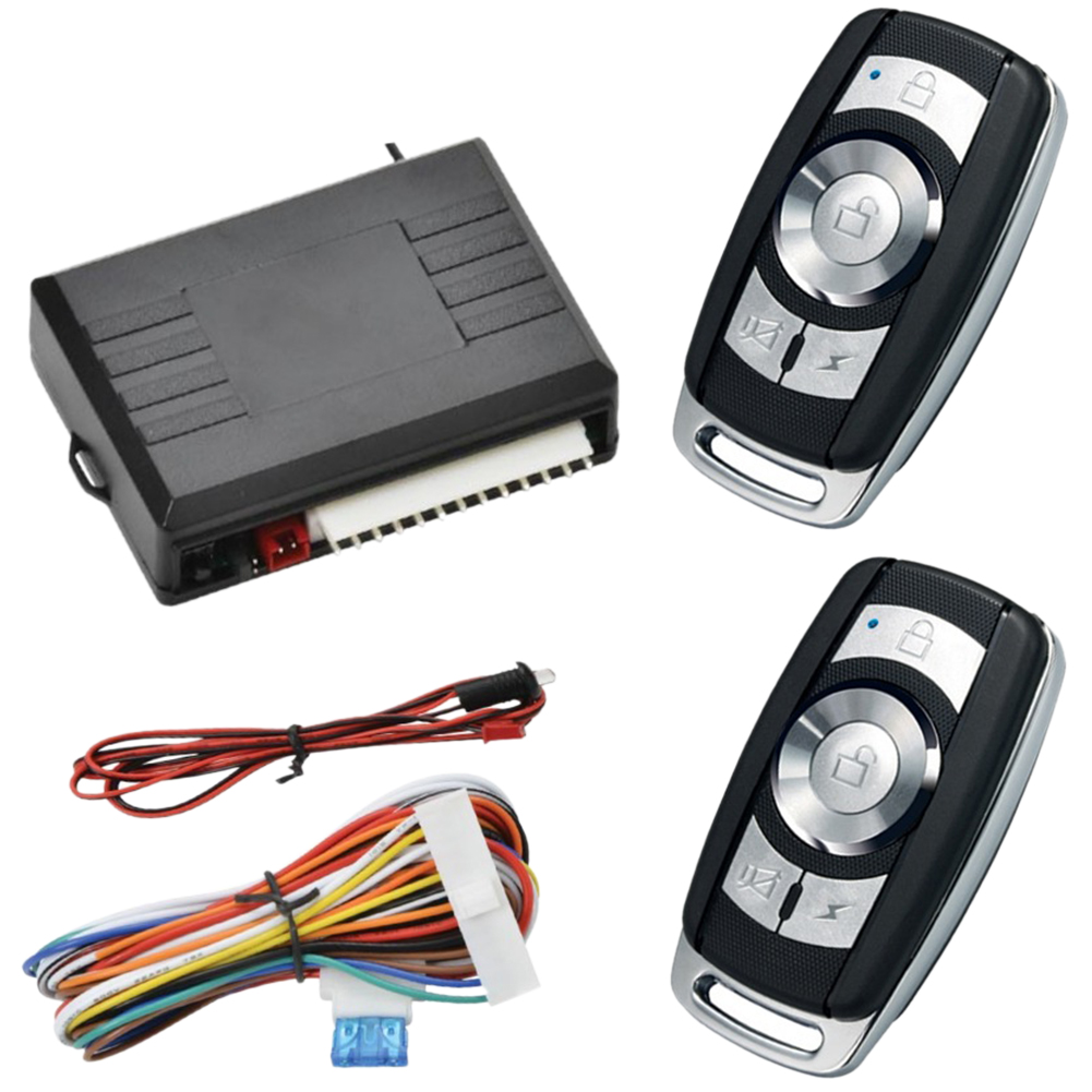 Keyless Entry System Anti theft Led Auto Button Locking Accessories Universal Vehicle Alarm Remote Central Kit Car Door Lock|Burglar Alarm|   - title=