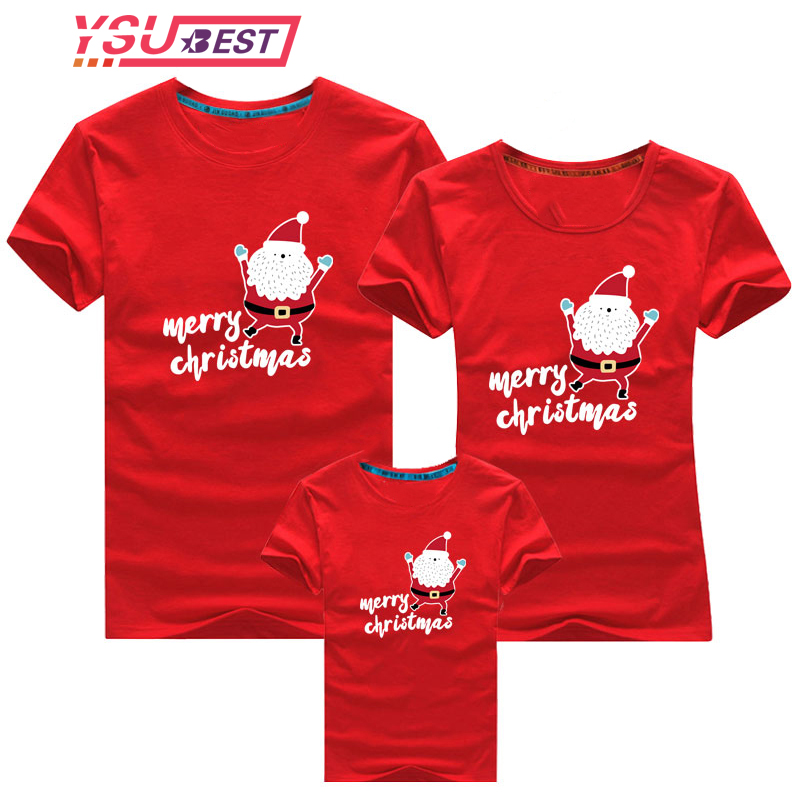 Family Clothing 2020 Christmas Snowman Print Kid T-shirts Mommy and Me Clothes Mother Daughter Fathe