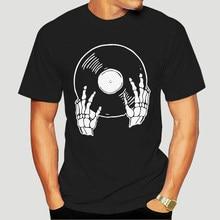 Vinile Record amante vinile collezionista scheletro Deat maglietta uomo e donna orgoglio della Creature T-Shirts-5242A