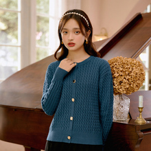 INMAN Liwo Series Winter Women's Vintage Art Port Style Pop Style Twist Knitted Cardigan Thick Sweater