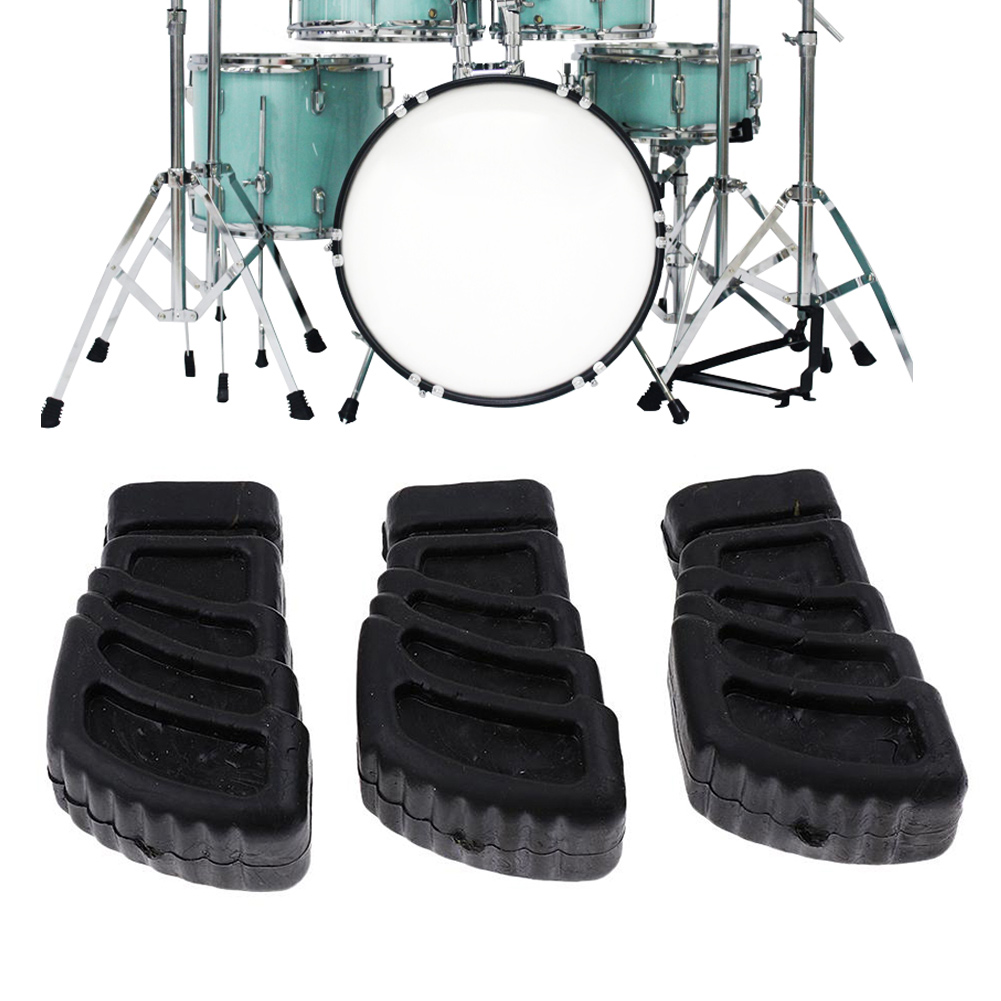 3 Pcs Rubber Feet Replacement Portable Accessories For Drum Stands Percussionist SEC88