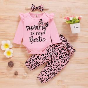 Одежда для новорожденных, комплекты весенней одежды, бесплатная доставка для маленьких девочек одежда для детей на возраст от 0 до 18 месяцев, розовый «Mommy's Little Girl», комплект из 3 предметов, комбинезон amd брюки наборы повязок на голову|Комплекты одежды|   | АлиЭкспресс