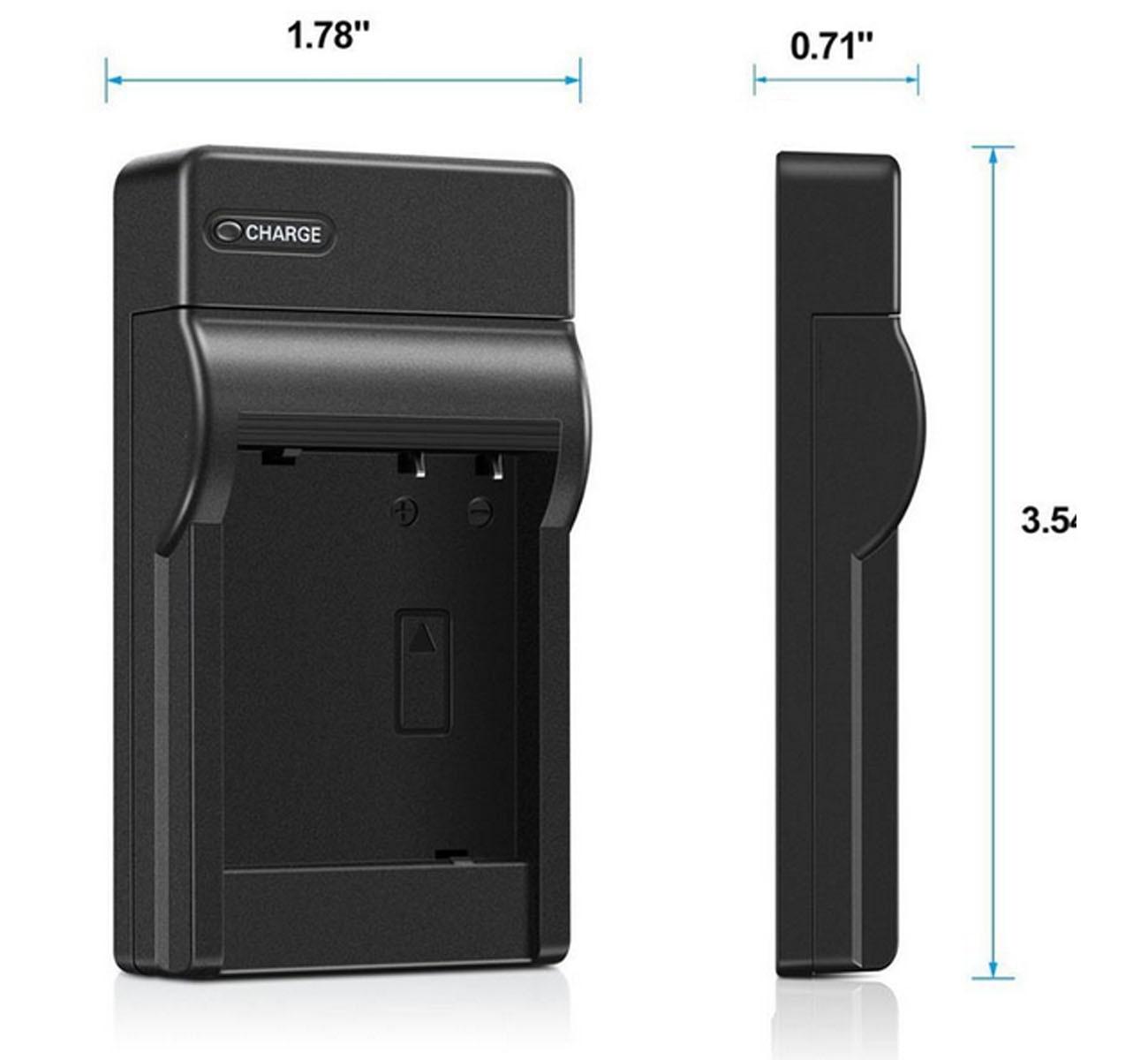 VP-D63 VP-D65 Digital Video Camcorder VP-D60 Battery Pack and LCD USB Travel Charger for Samsung VP-D55