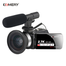 KOMERY 2.7k Video Camcorder Handycam WIFI Vlogging For Streaming Youbute 16X Dig