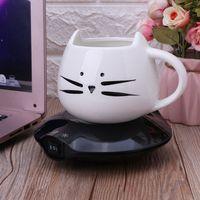 Cooling Heating Coaster Dual Use Beverage Coasters Pad Mini Fridge Winter Electric Mug Heater Coffee Tea Warmer Home Office