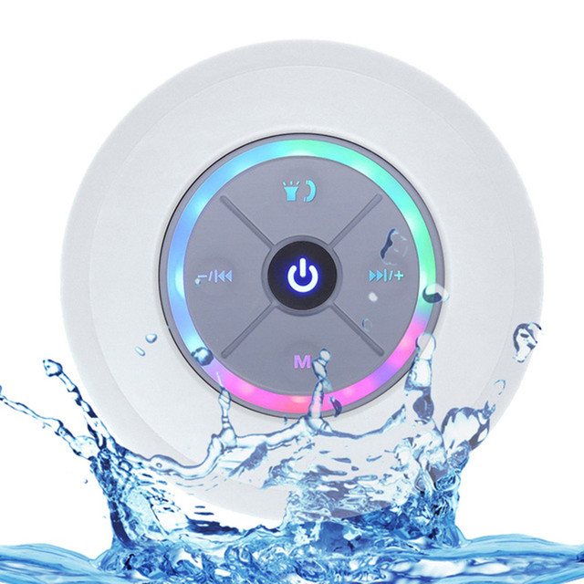 Nasin Portable Subwoofer Shower Waterproof Wireless Bluetooth Speaker Car Handsfree Call Music Suction Mic For IOS Android Phone 5