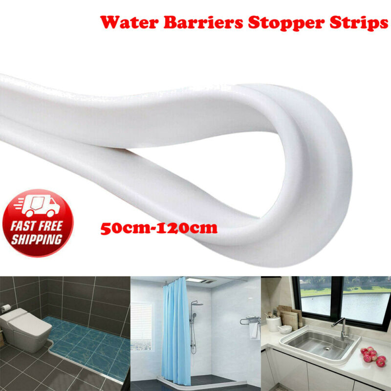 Bathroom Kitchen Water Stopper Silicone Water Barriers Floor Partition Strips