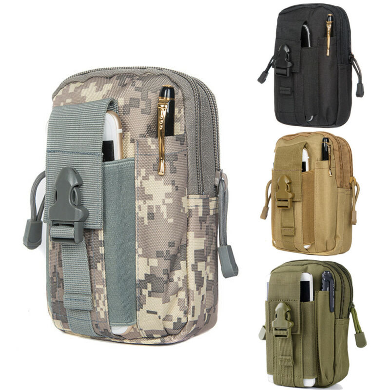Tactical Molle Pouch Belt Waist Pack Bag Military Fanny Pack Mobile Phone Pocket Camouflage Outdoor Camping Waist Packs