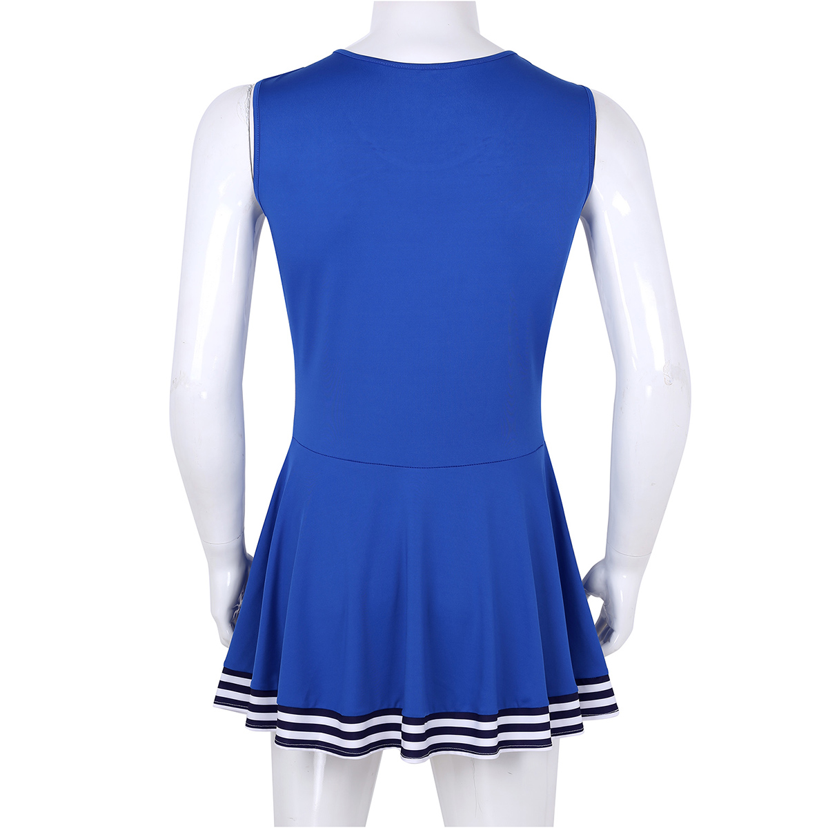 Image 4 - Men Sissy Dress Charming Cheerleader Cosplay Costume Dress Scoop Neck Sleeveless Pleated Fancy Short Dress Cheerleader Dress-in Sexy Costumes from Novelty & Special Use