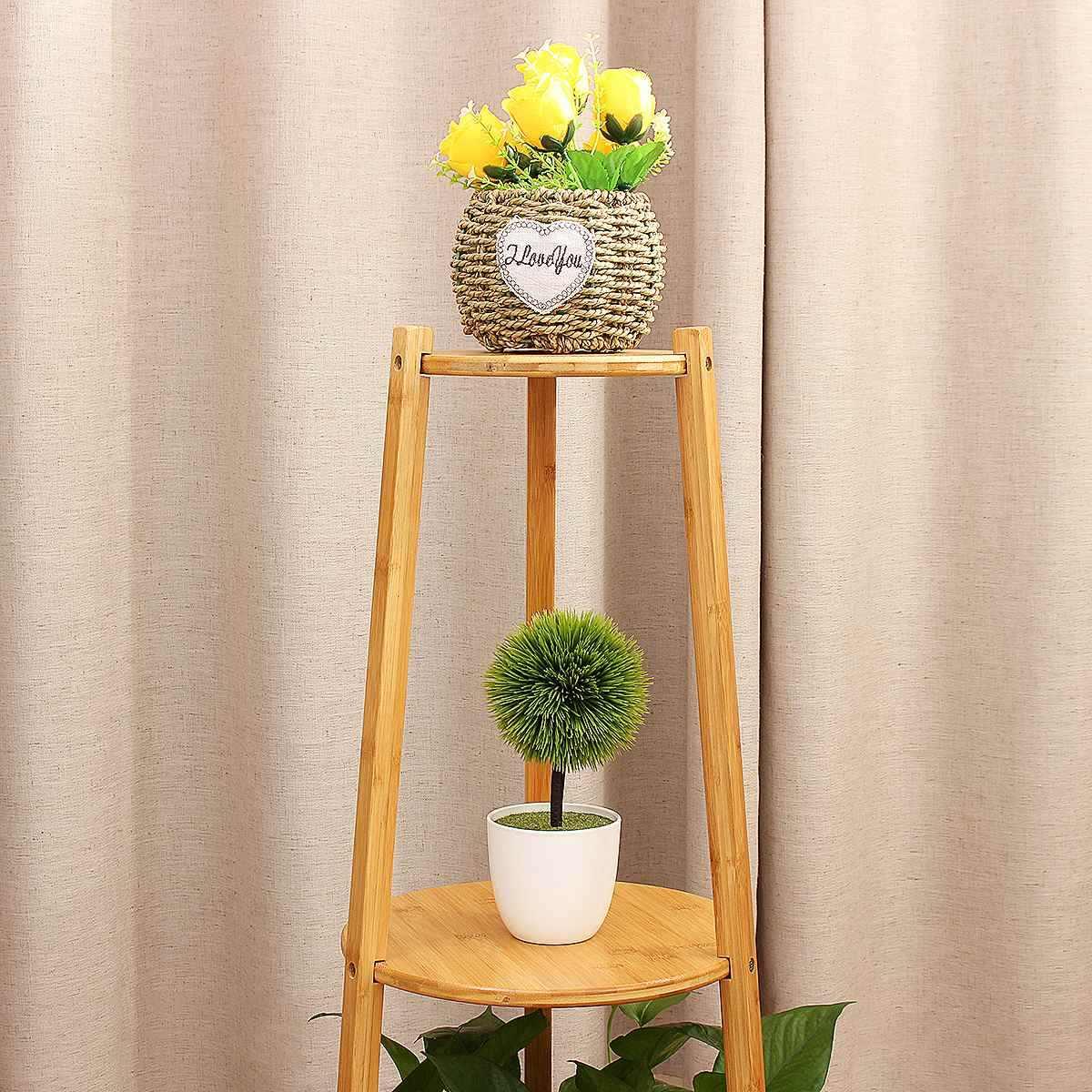 Bambus Holz Blume Rack Plant Stand 3/2 schicht Blume Stehen Regale Bonsai Display Regal Hof Garten Terrasse Balkon Blume Stehen