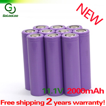 10PCS 18650 3.7V 2000mAh Rechargeable Battery Purple [ Full Capcity ] for the assembly mobile power, notebook batteries, etc.