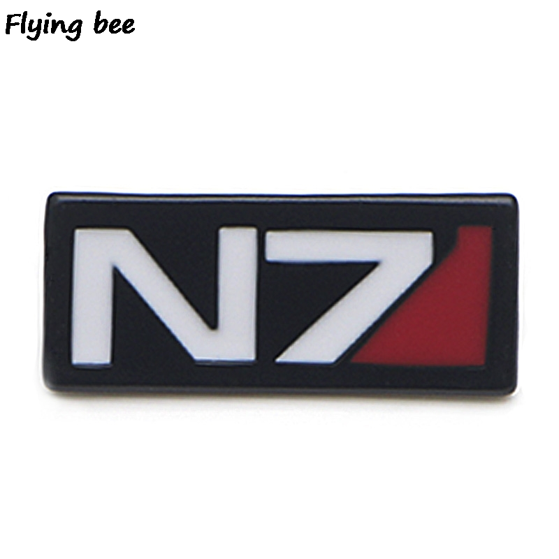 Flyingbee Mass Effect Cool Pins Clothes Brooch And Pin Enamel Pins Badges Lapel Pin Backpack Badge For Friends Women Men X0458
