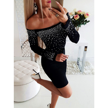 Women's dress summer sundress ribbed knit dress fashion 2019 party Off Shoulder bodycon mini dress Women Clothes office lady D35 striped trim ribbed knit dress