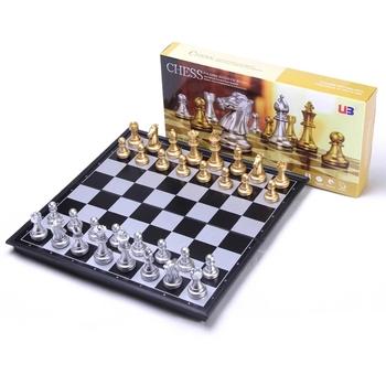 32 36cm duże rozmiary średniowieczne zestawy szachów z magnetycznym dużym szachownica 32 szachy stół Carrom gry planszowe zestawy figur szachy tanie i dobre opinie jusenda 3 lat Z tworzywa sztucznego CN (pochodzenie) Szachy warcaby 32*chess pieces+1*chessboard DL2154 32*32*2cm 36*36*2 5cm