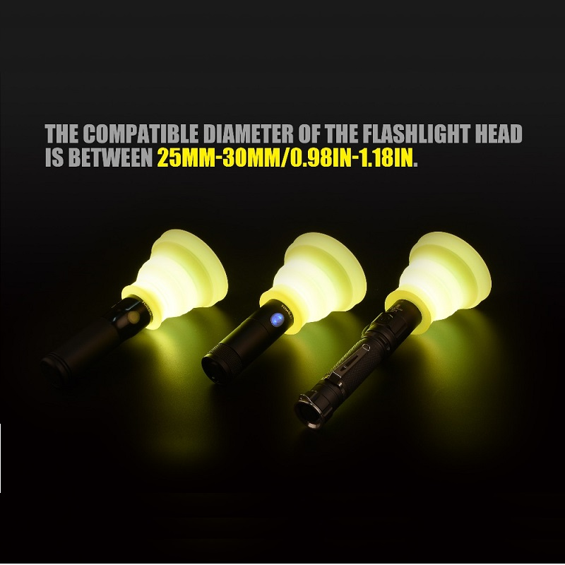 Flashlight Diffuser Compatible Diameter Is Between 25mm-30mm
