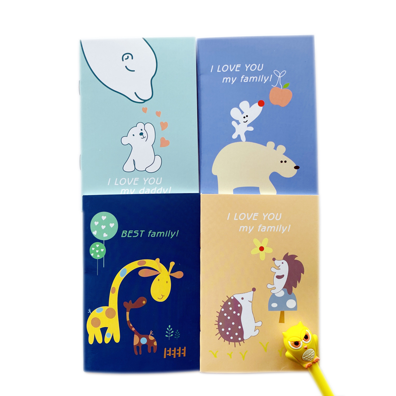 20 Pages Cute Animal Family Giraffe Bear Notebook Writing Diary Book Gift For Event School Office Supply Student Stationery