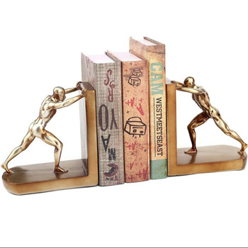 European Retro Arts Character Bookends Statue Sports Figure Book End Art Figurines Resin Craft Home Decoration Accessories R2597