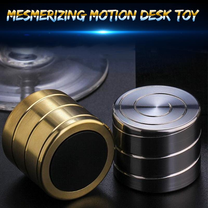 Stainless Steel Desk Rotate Tabletop Toys Stress Adult Office Pressure Fidget Relief Gifts Gold Silver