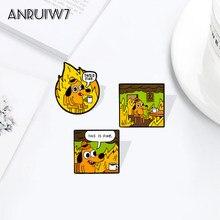 Este é fino acrílico pinos personalizados dos desenhos animados cão broches lapela pino camisa saco engraçado animal crachá jóias presente fãs amigos
