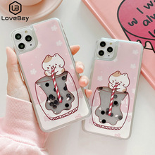 Lovebay Quicksand Milk Tea Phone Case For iPhone