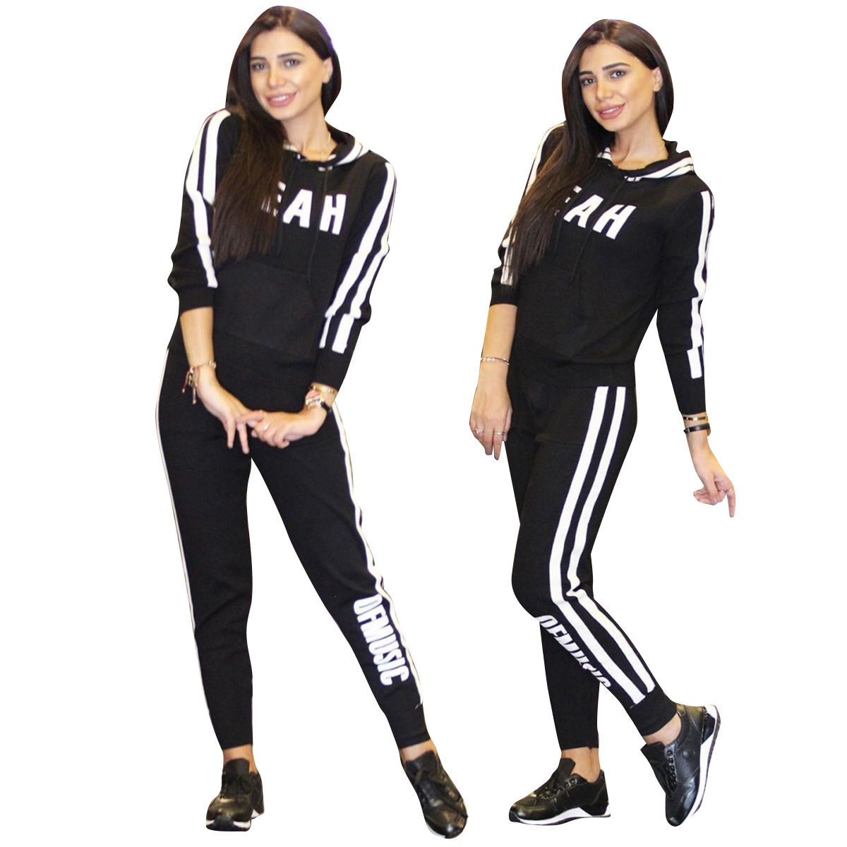 ALS064 Cross Border For Supply Of Goods Europe And America WOMEN'S Dress Joint Hat Threaded Braid Casual Fashion & Sports Set